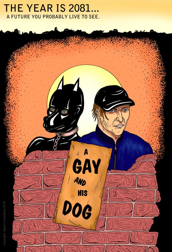 Bjoern Candidus - A GAY AND HIS DOG