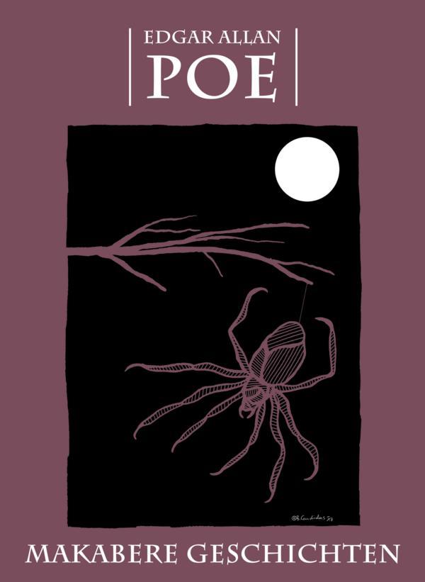 Buchcover-Entwurf für - Edgar Allan Poe - MAKABERE GESCHICHTEN / 2017
