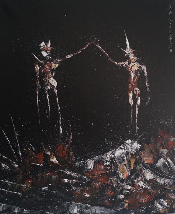 EXTRAMUNDAN (16) / Acryl auf Leinwand / 60 x 50 cm / 2018