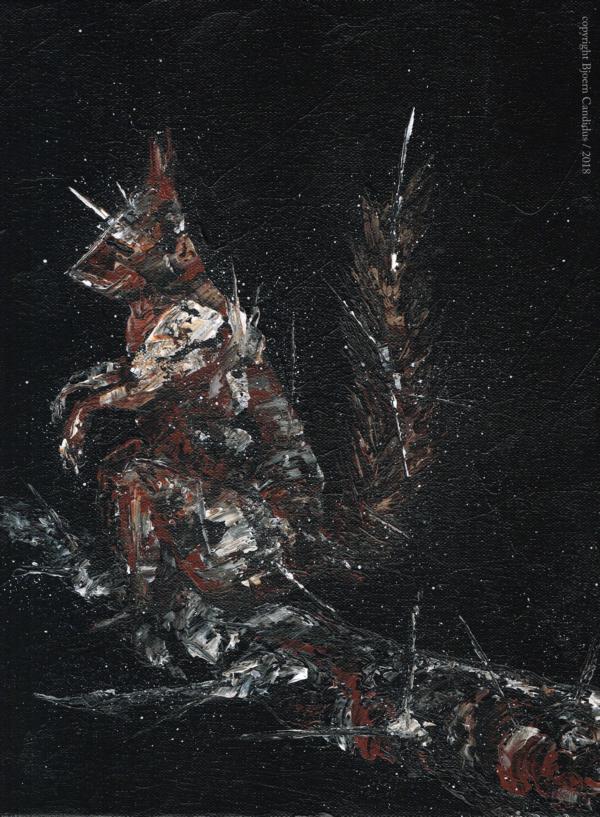 EXTRAMUNDAN (14) / Acryl auf Leinwand / 40 x 30 cm / 2018 / *verschenkt*