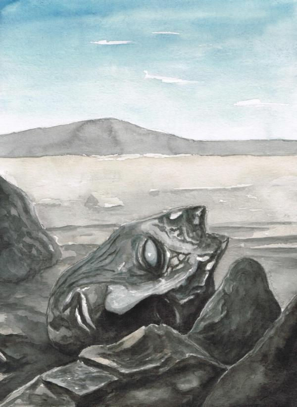 KOLK WAR MAL / Aquarell auf Papier / 40 x 30 cm / 2019