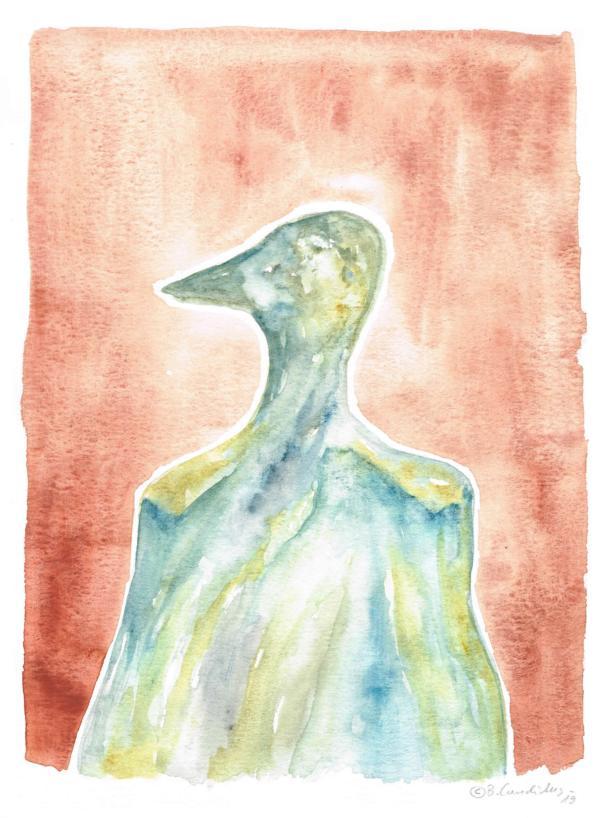 DIE GANS / Aquarell auf Papier / 40 x 30 cm / 2019