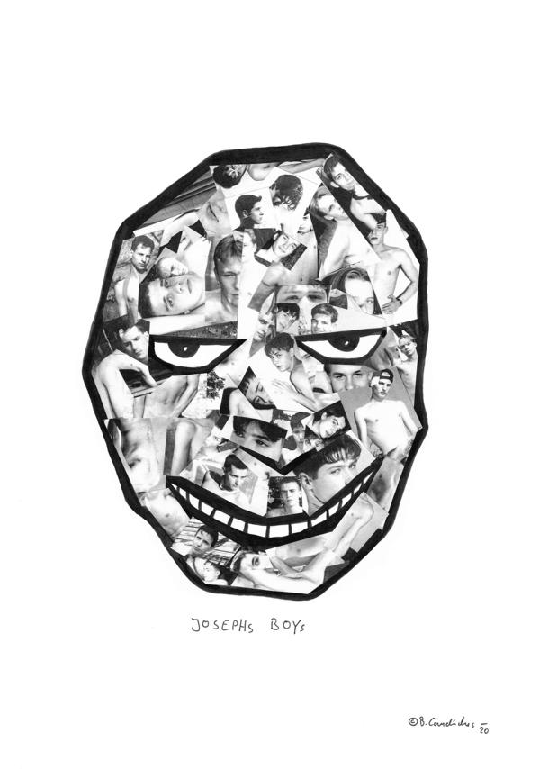 Bjoern Candidus  JOSEPHS BOYS Collage auf Papier 42,0 x 29,7 cm  2020