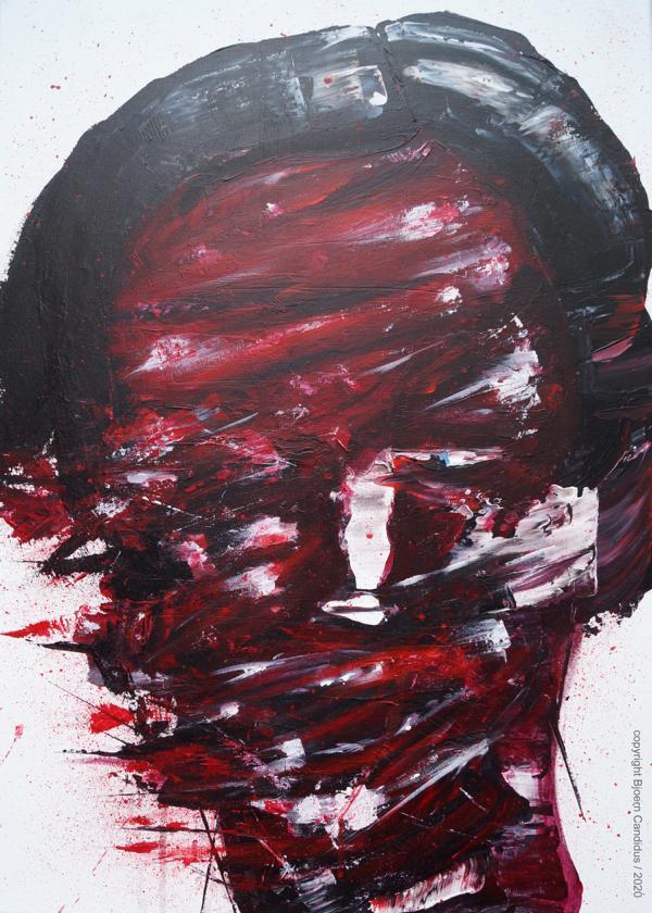 Bjoern Candidus DAS EWIGE HIN UND HER  Acryl auf Leinwand 70 x 50 cm 2020
