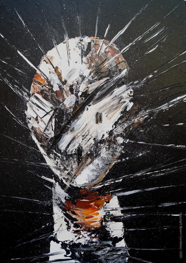Bjoern Candidus EXTRAMUNDAN (21) Acryl auf Leinwand 70 x 50 cm 2020
