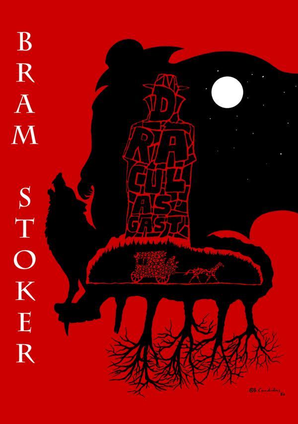 Cover-Entwurf für Bram Stokers Kurzgeschichte DRACULAS GAST (DRACULA´S GUEST, posthum veröffentlicht im Jahre 1914) / 2020