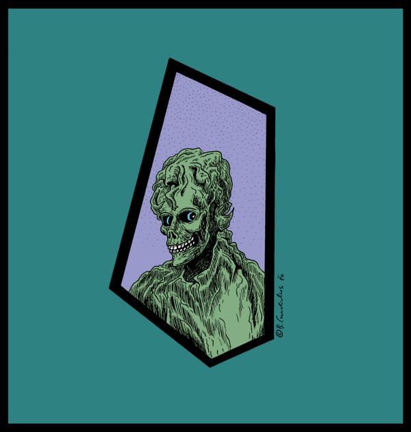 Bjoern Candidus TANTE ADELE LEBT  Zeichnung, digital bearbeitet 2020