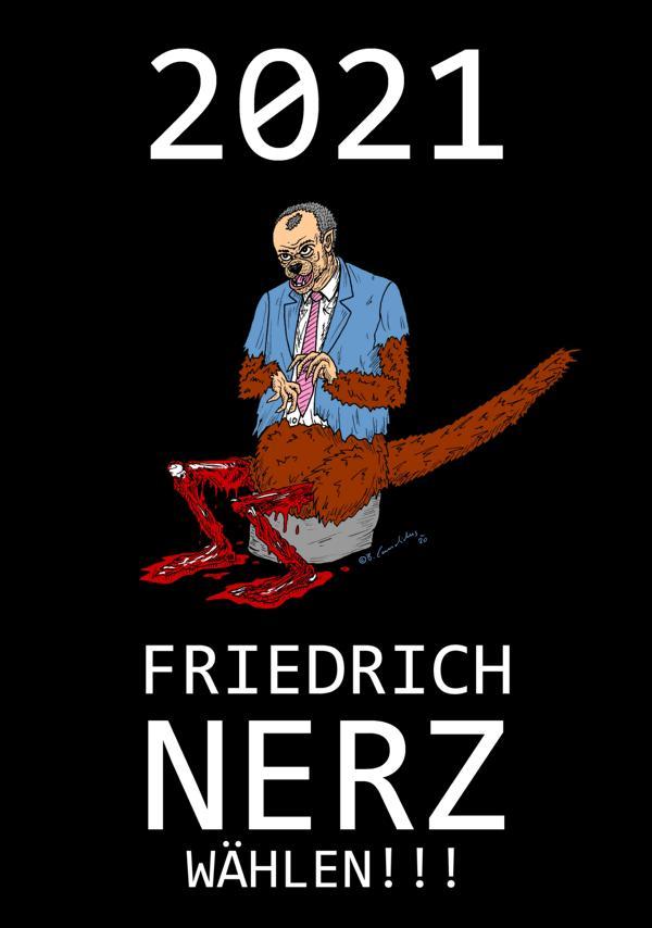 FRIEDRICH NERZ / Zeichnung, digital bearbeitet / 2020