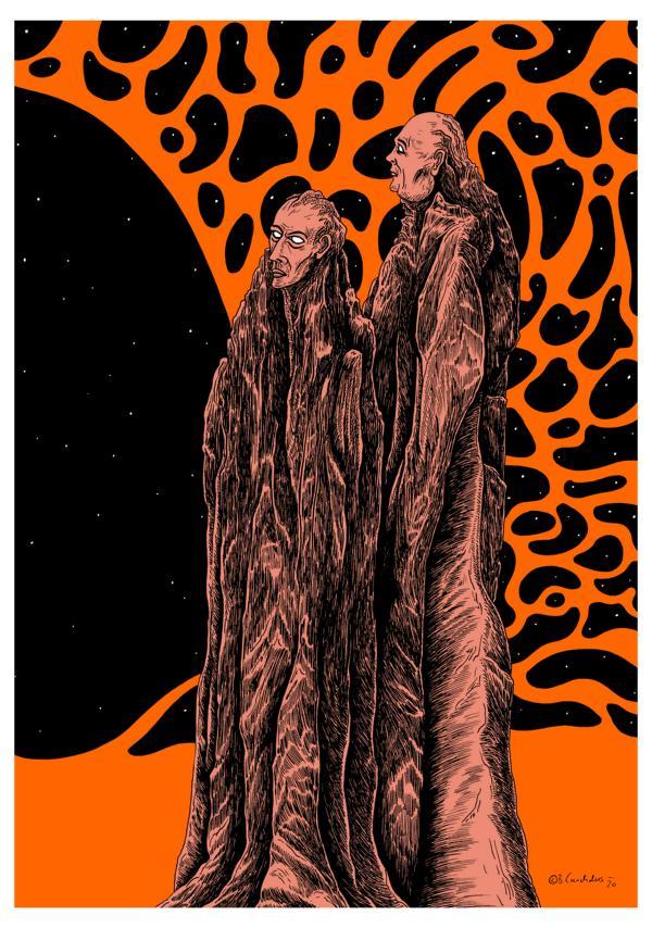 Bjoern Candidus - MARS (Colorierte Version) / Zeichnung, digital bearbeitet / 2020