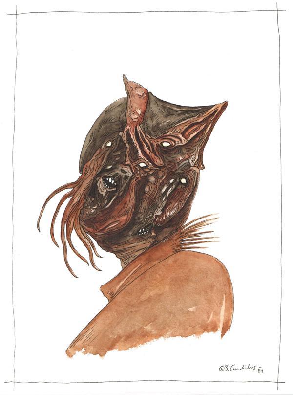 Bjoern Candidus - NAROH / Aquarell und Tusche auf Papier / 32 x 24 cm / 2021