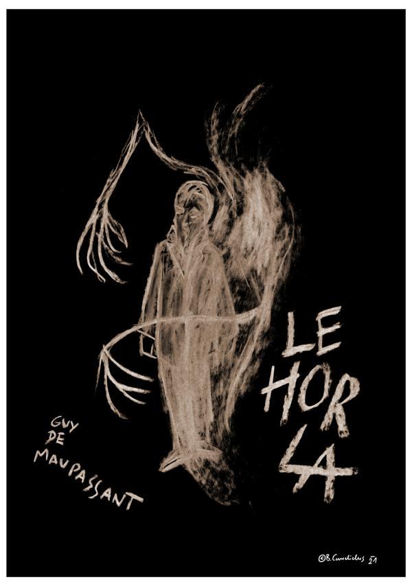 Cover-Entwurf für Guy de Maupassants Novelle DER HORLA (LE HORLA, 1886/87) / 2020