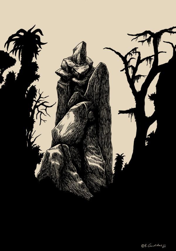 Bjoern Candidus - STILLE (Colorierte Version) / Zeichnung, digital bearbeitet / 2021