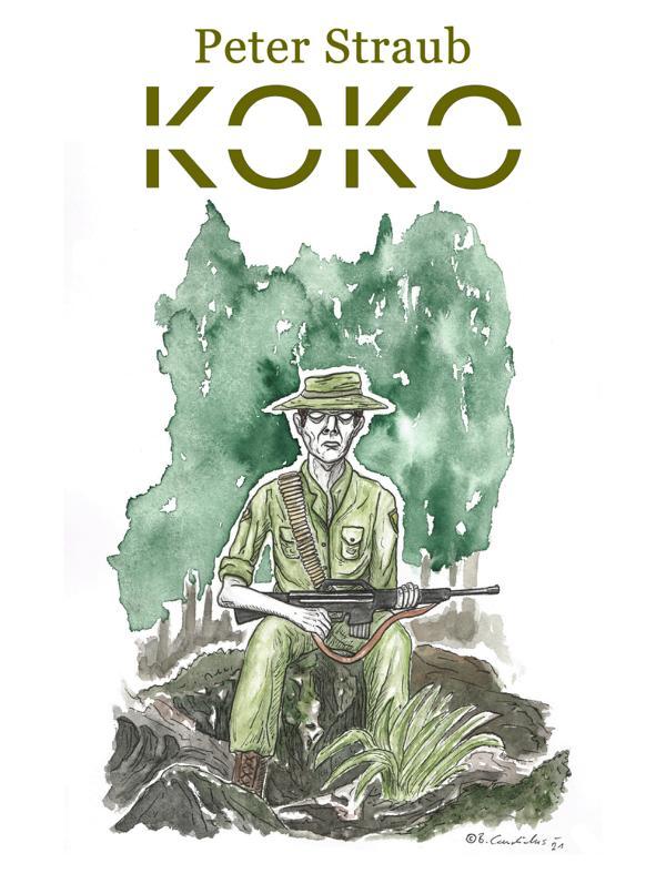 Bjoern Candidus - Cover-Entwurf für Peter Straubs Roman KOKO (1988) / 2021