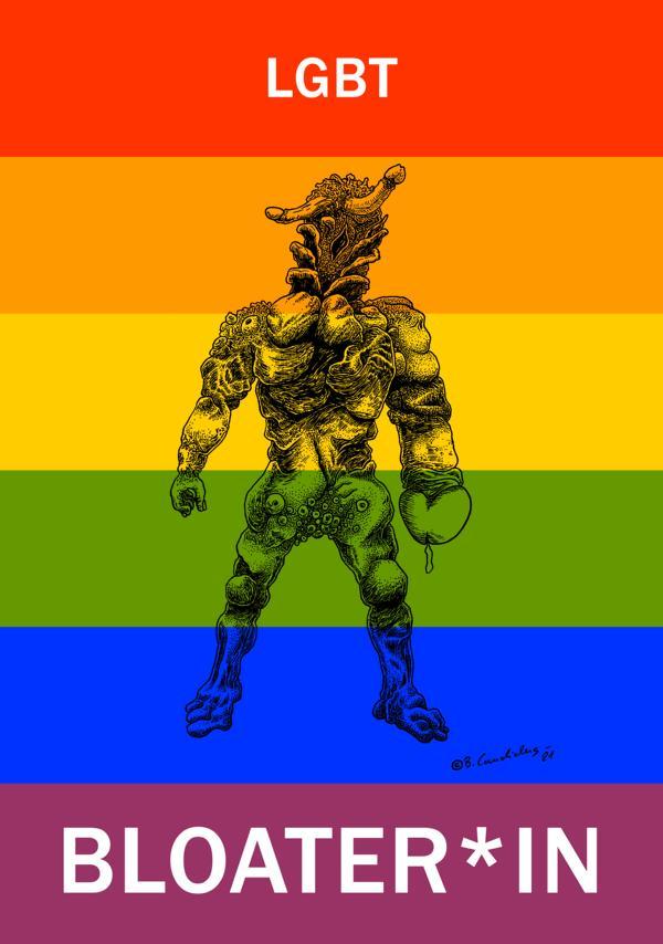 Bjoern Candidus - LGBT-BLOATER*IN / Zeichnung, digital bearbeitet / 2021