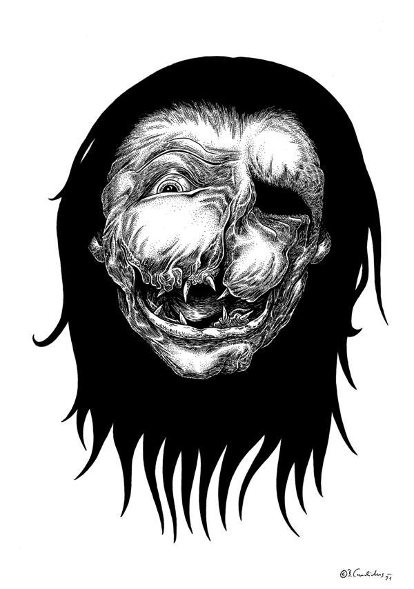 Bjoern Candidus - MARTHA SIEHT DIE ZUKUNFT / Zeichnung / 2021
