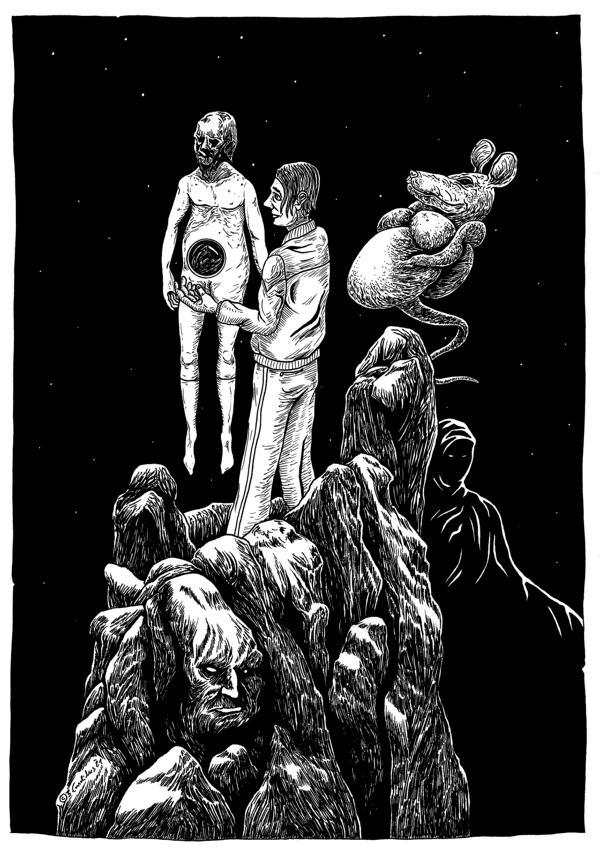 Bjoern Candidus - DAS SCHICKSAL LIEGT IN KEINER HAND, Zeichnung, 2021