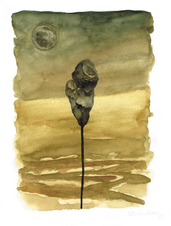 Bjoern Candidus - BLUME / Aquarell auf Papier / 32 x 24 cm / 2021