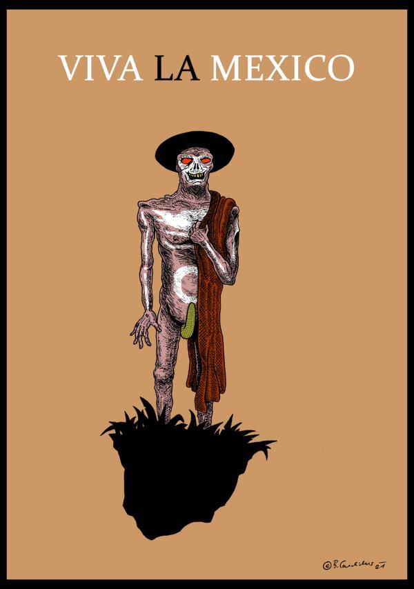 Bjoern Candidus - VIVA LA MEXICO / Zeichnung, digital bearbeitet / 2021