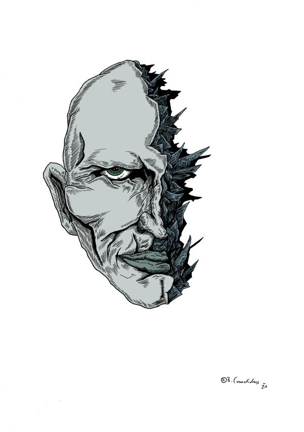 Bjoern Candidus - ZERFALL / Zeichnung, digital bearbeitet / 2021