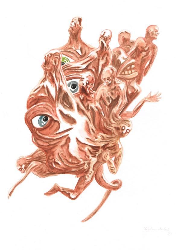 Bjoern Candidus - ANSAMMLUNG / Aquarell auf Papier / 32 x 24 cm / 2021