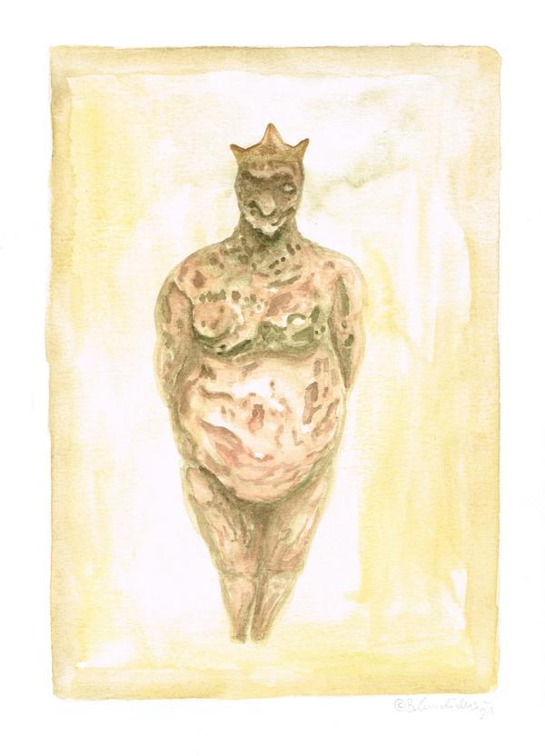 Bjoern Candidus - MARZIPANKÖNIG / Aquarell auf Papier / 21,0 x 29,7 cm / 2021