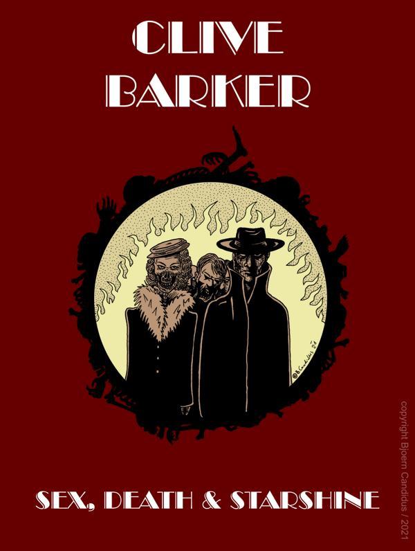 Bjoern Candidus - Cover-Entwurf für Clive Barkers Kurzgeschichte SEX, DEATH & STARSHINE (1984) / 2021