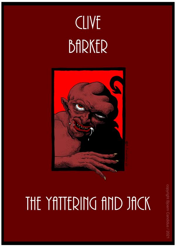 Cover-Entwurf für Clive Barkers Kurzgeschichte THE YATTERING AND JACK (1984) / 2021